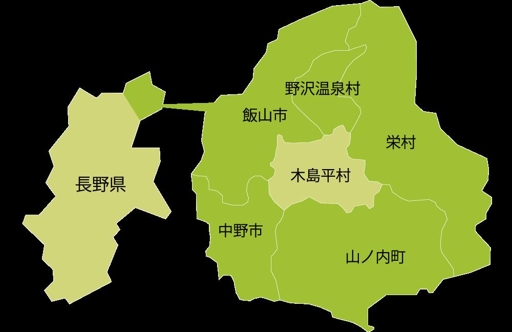 木島平村の地図上の位置