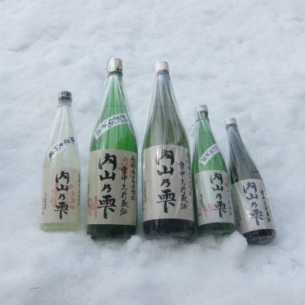 内山の雫雪中酒