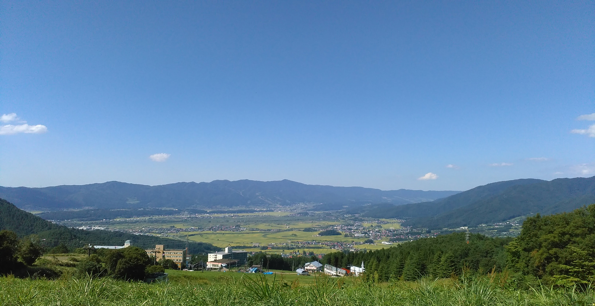木島平村の風景 スキー場ゲレンデから